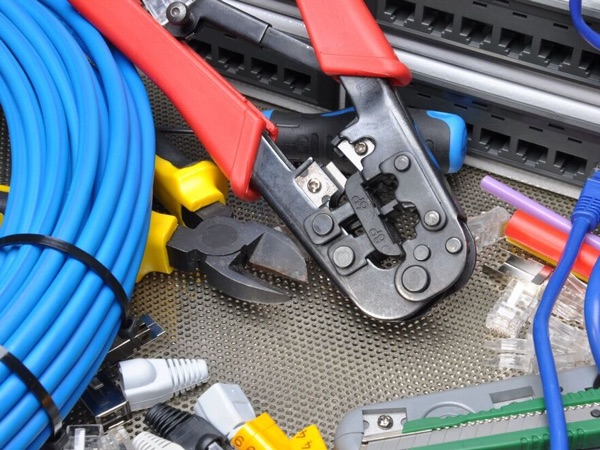 network cables and pliers