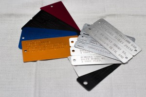 industrial embossed tags