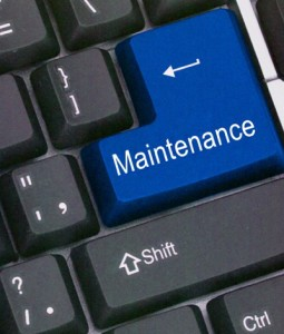 Maintenance button on keyboard